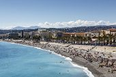 Sea Shoreline And Beaches, Nice, France