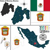 Map Of State Of Mexico, Mexico