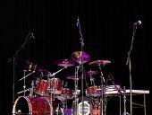 Stage Lit Drum Kit