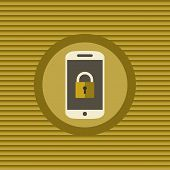 Mobile Security Flat Icon