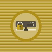 Server Security Flat Icon