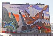 Giant Murals In Lodz, Poland