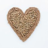 Frame In The Shape Of Heart With  Rye
