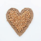 Frame In The Shape Of Heart With Wheat