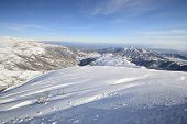 Snowy Slope With Superb Panoramic View