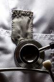 Stethoscope On Medical Coat