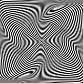 Abstract op art background. Illusion of torsion. Illustration.