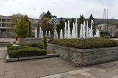 Fountain in like natural spring in the central square of Pravets