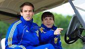 Marko Devic (l) And Yevhen Konoplyanka (r)