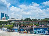 Urban Graffiti Along Klang River, Malaysia