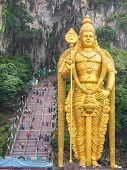 God Murugan At Batu Caves, Kuala-lumpur