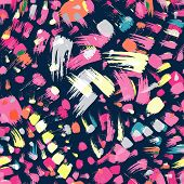 brush stroke artistic seamless pattern