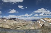stock photo of manali-leh road  - View Of Mountain Range From Tanglang La Pass - JPG
