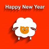 Symbol of 2015. Sheep,   element for New Year's design. Illustration  2015 year