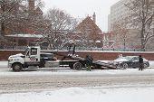 Broken Down Vehicle Being Rescued