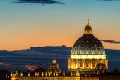 Dome Of Saint Peter At Twilight