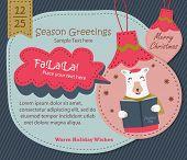 Season Greetings, Christmas Card with Polar Bear