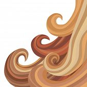 An image of flowing hair.