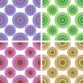 Set Of Backgrounds Colored Circles