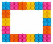 Frame Made Of Colorful Construction Toy