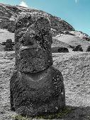 Black And White Moai