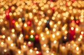 Blurred Candles Background