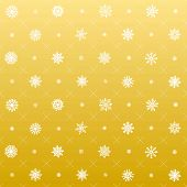 Elegant Christmas Background with Snowflakes, Seamless Snowflakes Pattern. gold vector