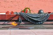Eternal fire in memory of victims in the world war - Kremlin Moscow - Russia