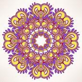 Round Leaf Purple Pattern