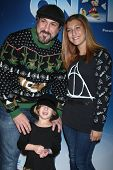 LOS ANGELES - DEC 11:  Joey Fatone, Kloey Fatone, Brianna Fatone at the