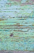 The Texture Of The Painted Wooden Board