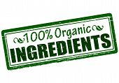 One Hundred Percent Organic Ingredients