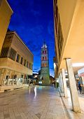 Kalelarga Famous Zadar Street Night View