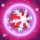 Red Christmas Globe