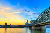 Cityscape Of Cologne From The Rhine River