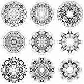 Composition with beautiful circular pattern for your design