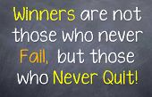 Winners are not those who never fail