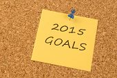 2015 Goals yellow sticky note