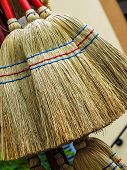 New straw broom