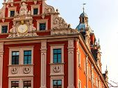 Quaint Renaissance Town Hall on the Market square in Gotha, Germany