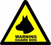 Warning Guard Dog Symbol