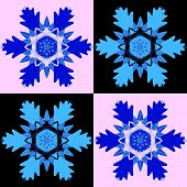 Decorative pattern with a snowflakes