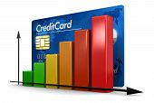 Graph with Credit Card (clipping path included)
