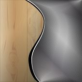 Wooden metal background