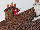 Father Christmas On Roof Top