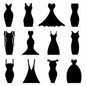 Women Dresses Icon Set