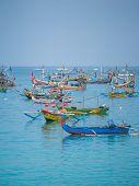 BALI - NOVEMBER 15: The harbour of Jimbaran village, Bali Indonesia November 15, 2014 in Bali, Indonesia.