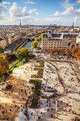 Paris Cityscape As Seen From The Top Of Notre Dame De Paris