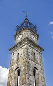 ancient clock tower in St Cristobal de Cea - Orense Spain
