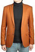 Orange Jacket Suit For Men.